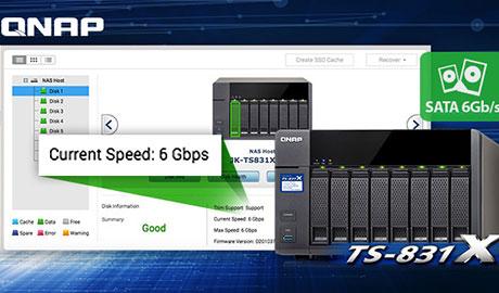 QNAP NAS TS-831X with 8 native SATA 6Gb/s ports | Security