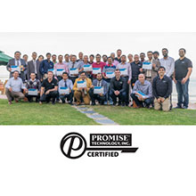 Promise is working hard to increase the knowledge level around storage solutions with onsite certified hands on training, including through the event the company held at the end of March in Kuwait where over 35 security professionals were certified by Promise