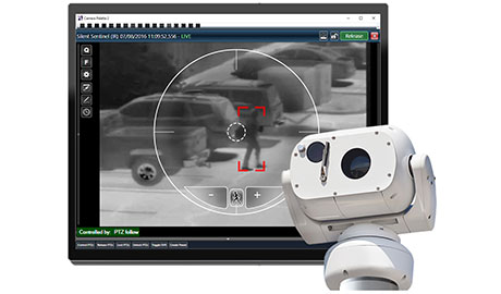 The PureActiv, Aeron Searcher integration includes slew-to-cue, scan-to-target and camera auto follow capabilities