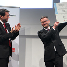 The award ceremony was held by the Lower Saxony Minister of Economics, Labour and Transport, Olaf Lies