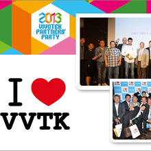 "Every attendee received a splashily designed ""I Love VVTK"" T-shirt as a souvenir of this annual gathering"
