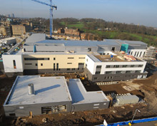 Victoria Hospital, shown here under construction in Glasgow, selected CEM security systems and ADT Glasgow to secure their facilities
