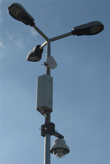 Patented device for urban surveillance systems