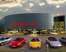 Porsche Car Dealership and showroom in Sunninghill Gauteng
