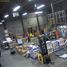 Megapixel imaging enables the company to identify and view any case, pallet or person with clarity