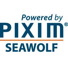 Pixim powered by seawolf new logo