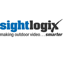 SightLogix logo; SightLogix specialises in outdoor video analytics cameras for perimeter security applications
