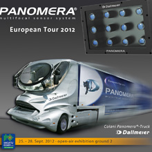 Dallmeier Panomera design, matches the tractor unit perfectly, in form and function