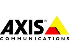 Axis Communications logo; Axis Communications specialises in network video
