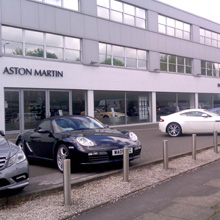 """An Aston Martin garage opts for the OPTEX REDSCAN laser detector to create a """"virtual fence"""""""