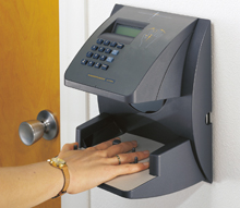 Schlage HandPunch, biometric technology, uses hand geometry