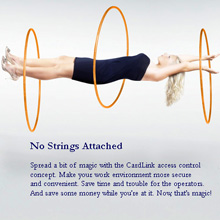 """""""No Strings Attached"""" campaign promotes the CardLink access control concept"""