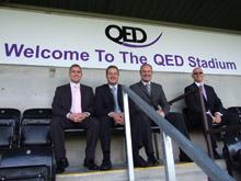 QED sponsors local stadium