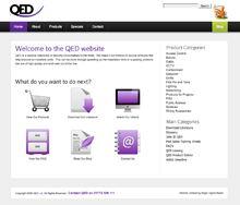 The QED website has a new look and has more information and images