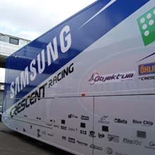 Samsung Crescent Racing team secured by Samsung dome cameras