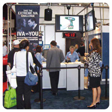 The Bosch booth at the ASIS International 2008 attracted attention for its IVA challenge