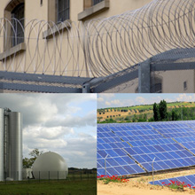 The product range consists of Predix dual position k-band microwave detectors for 10 – 400m distance and Quadrosense fence protection systems