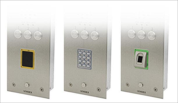 Videx adds proximity, fingerprint, and coded access readers option to its door panel range