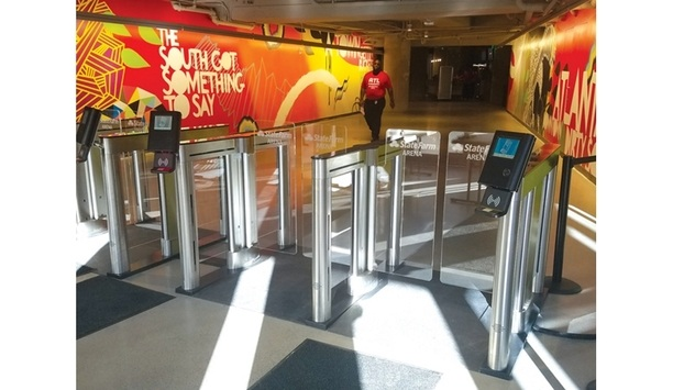 Alvarado Secures State Farm Arena And Gaylord Opryland Resort With IntraQ-SU5000 Optical Gate Admission Turnstile