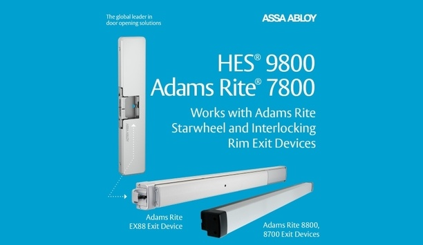 ASSA ABLOY and Adams Rite add HES 9800 and Adams Rite 7800 Electric Strike to access control portfolio