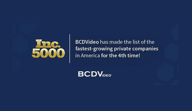 BCDVideo Makes Inc. 5000 List For Third Consecutive Year, Moves Up 856 Spots In Ranking