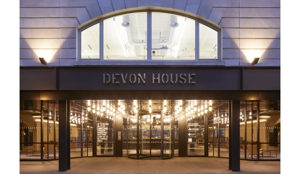 Boon Edam installs a TQM manual revolving door at Devon House at St. Katharine Docks to enhance entrance security