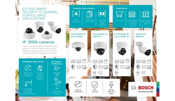 Bosch launches IP 3000i cameras to provide cost-effective video surveillance solution to its customers