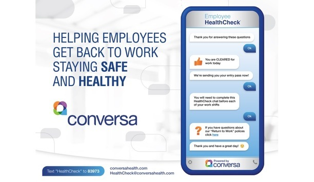 Conversa Health Unveils COVID-19 Employee HealthCheck To Enable US Enterprises To Get Back To Operations Safely