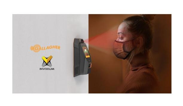 Gallagher Command Centre and Invixium IXM WEB software integration offers contactless biometric temperature & mask detection