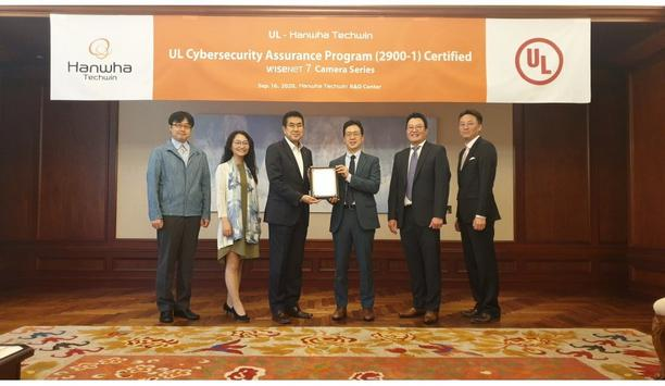Hanwha Techwin America Receives UL Cybersecurity Assurance Program Certification For Wisenet 7 Camera Range