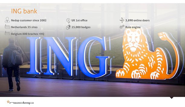Nedap's AEOS installed at ING's branch offices in Belgium