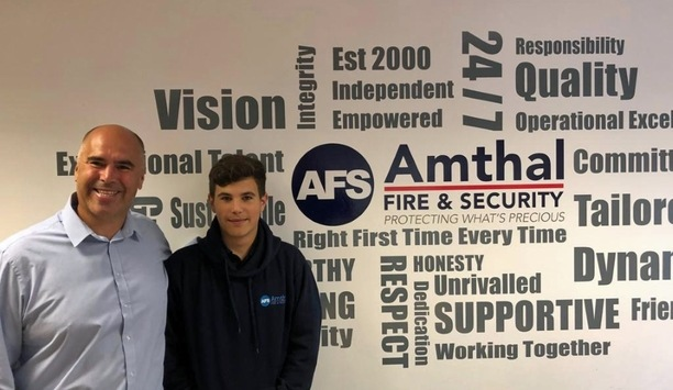 Luke Allam shadows the established company services like CCTV, access control, fire systems after joining Amthal