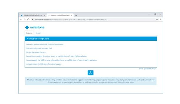 Milestone Systems Announces Release Of XProtect Troubleshooting Assistant Self-Help Online Tool