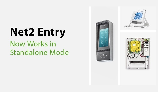 Paxton's Net2 Entry video intercom system works standalone to provide simple user management system
