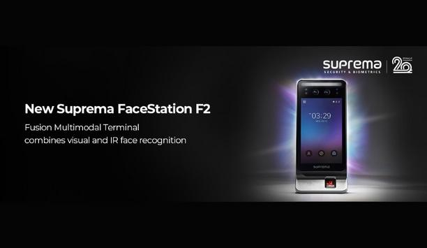 Suprema Releases FaceStation F2 Fusion Multimodal Terminal That Offers Exceptional Authentication Results