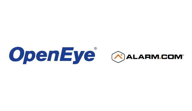 OpenEye And Alarm.com Form A Joint Integration To Provide Robust Security And Intelligence Solutions