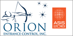 Orion ECI To Showcase Newest Turnstile And Biometric Integrations At ASIS 2016
