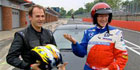 Paul O'Grady wears AD Group race suit on ITV1 during test drive with former 'Stig'