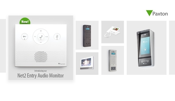 Paxton adds new Audio monitor to the Net2 Entry intercom product range