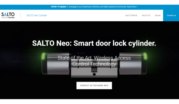 SALTO announces the launch of their Neo Cylinder microsite detailing their electronic access control solutions