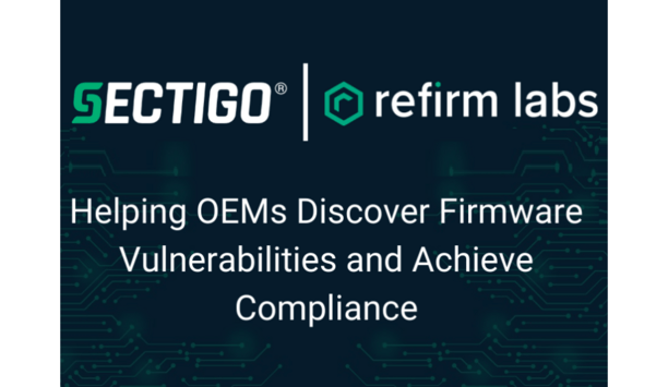 Sectigo And ReFirm Labs Partner To Help Device Manufacturers Uncover IoT Firmware Vulnerabilities