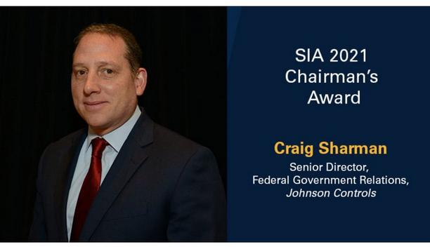 Security Industry Association names Craig Sharman as the 2021 recipient of the SIA Chairman's Award