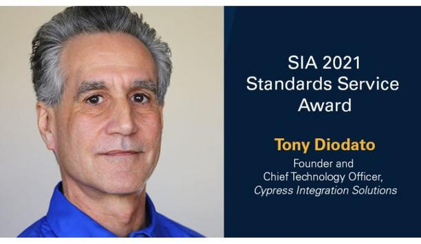 Security Industry Association to honour Tony Diodato with 2021 SIA Standards Service Award at The Advance 2021