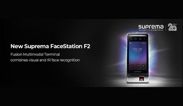 Suprema unveils FaceStation F2 Fusion Multimodal Terminal that combines visual and infrared face recognition technology