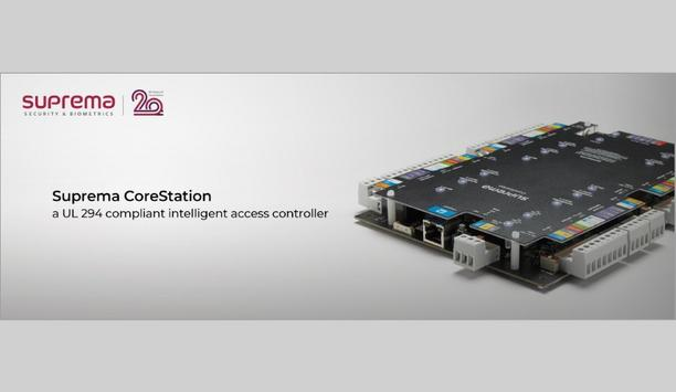 Suprema's biometric intelligent access controller, CoreStation attains UL 294 compliance