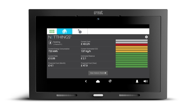 Award-winning Energy Manager app on Urmet Max Pro touchscreen