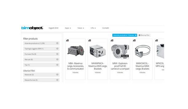 Videotec Announces Its Products Available As Building Information Models On The BIM Library