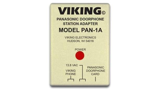 Viking Electronics' PAN-1A door phone station adapter utilises the features of Panasonic door phone cards
