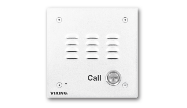 Viking Electronics Offers Its Classic Door Entry Speaker Phone E-10-WHA In A White Powder Painted Finish