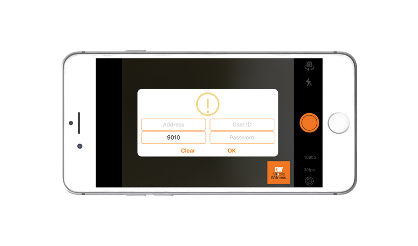 DW Mobile Witness app converts smartphone or tablet into security
